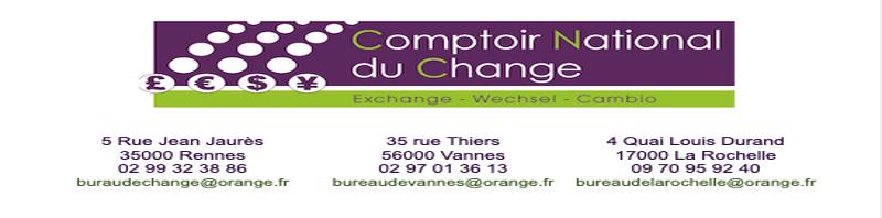 Bureau de change Vannes 02 97 01 36 13 Bureau de change Rennes  02 99 32 38 86